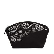 Nefertiti cosmetic bag black silver pattern