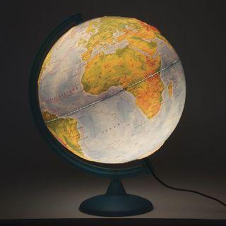 GLOBE WORLD / Globe physical diameter 320 mm, embossed, with backlight