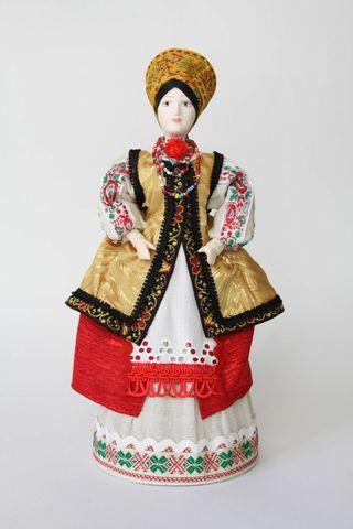 Doll gift porcelain. Poltava region Kievskaya lips. Women's festive costume. 19-20 centuries.