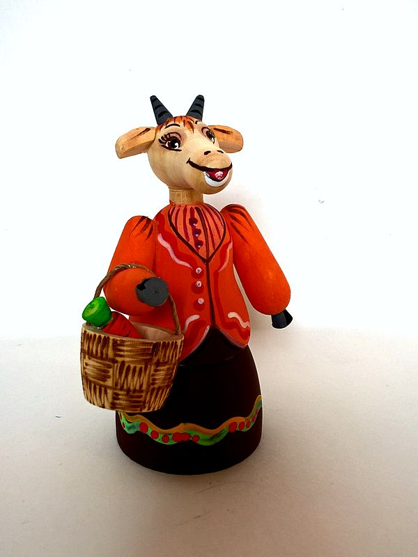 "Tver souvenirs / Tver theme ""Goat with a basket"""