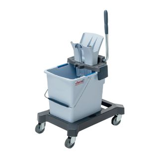 "VILEDA / Cleaning trolley ""UltraSpidPro"", 1 removable bucket of 25 l, platform, without handle, tunnel spin"