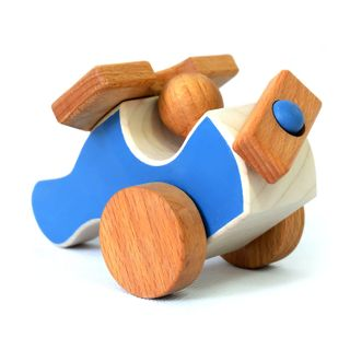 Airplane - developing children's transport wooden toy