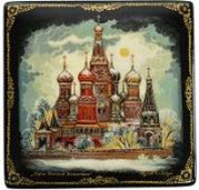 Kholuy art lacquer miniature St. Basil's Cathedral