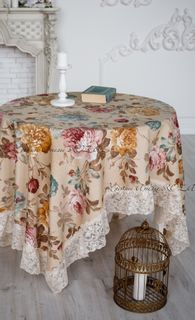 Tablecloth with lace Adelia