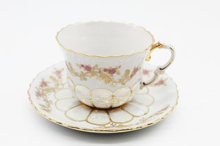 Dulevo porcelain / Tea cup and saucer set, 12 pcs., 400 ml