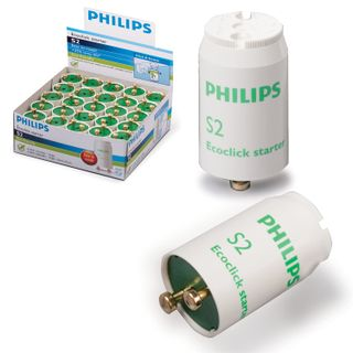 PHILIPS / Starters for fluorescent lamps S2, 4-22 W, 220-240 V (double lamp connection diagram), set of 25