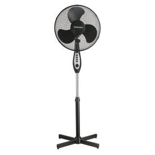 SONNEN / Floor fan FS40-A55, d = 40 cm, 45 W, 3 speed modes, timer, black