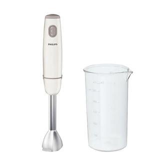 PHILIPS / Hand blender HR1604 / 00, 550 W, 1 speed, metal leg, glass, white