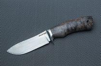 "Knife ""Boar"" from powder steel M390, the handle of the Karelian birch"
