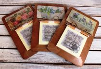 Souvenir fridge magnet with a notebook Flowers mix