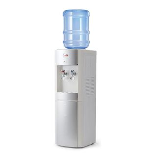LD-AEL-28c water cooler, floor, FREE/GREEN ELAND, 10 litre locker, 2 taps, white/silver, 00257
