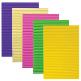 The color CORRUGATED cardboard A4, 5 sheets, 5 colors, 250 g/m2, TREASURE ISLAND