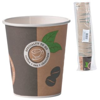 HUHTAMAKI / Disposable cups 200 ml, single-layer paper, color printing, cold / hot, SET 50 pcs.