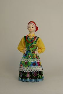 Doll gift. Girl. Russian folk costume.