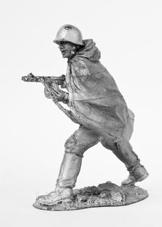 """Tin soldier """"Gunner of the red army in attack No. 1"""""""