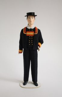Doll gift. Men's suit 20vek. The Town Of Pont-Aven. France.