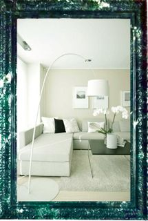 Big mirror in openwork frame marble Tuscany-vintage malachite (green), 110 X 80 cm