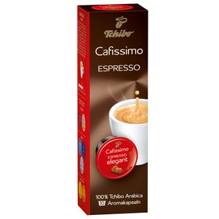 Capsules for coffee machines Cafissimo TCHIBO Espresso Mailander Elegant, natural coffee, 10 pcs. x 7 g