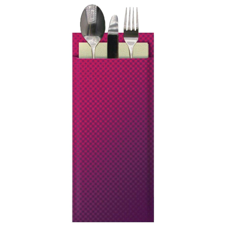 "TORK / Bordeaux paper envelopes for cutlery ""Advanced"" with cream napkin, 39x23 cm, 100 pcs."