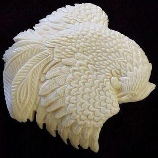 AMULET BIRD PHOENIX from mammoth tusk