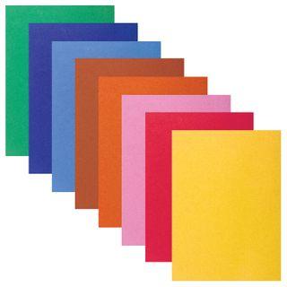 Colored paper A4 VELVET, 8 sheets 8 colors, 110 g/m2, BRAUBERG