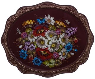 Zhostovo / Tray, author Frolova N. 38x30 cm