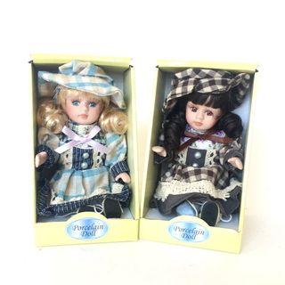 Porcelain doll in gift box