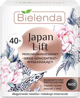 Smoothing cream against wrinkles for the face 40+ night, JAPAN LIFT, BIELENDA 50ml