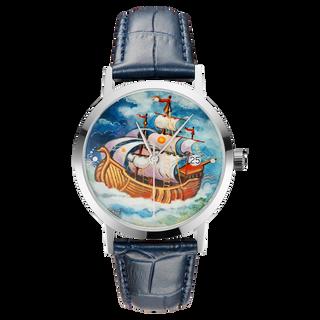 "Palekh watch ""Sailboat №55"