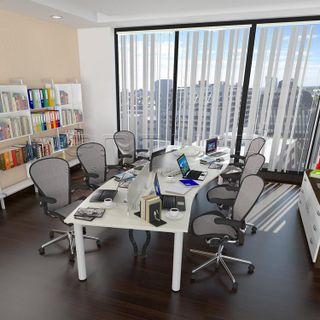 Wave Shaped Office Desk