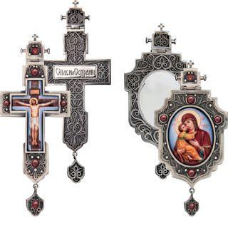 Rostov enamel / Cross and Panagia