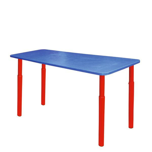 Children's table with adjustable height blue