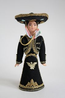 Doll gift. Mexican national costume.