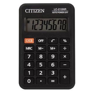 Pocket calculator CITIZEN LC-210NR (98x62 mm), 8 digits, battery power