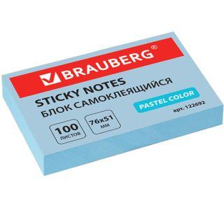 Unit self-adhesive (sticker) BRAUBERG, PASTEL, 76х51 mm, 100 sheets, blue