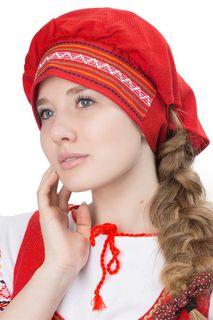 """Hat, scarf in Russian folk style """"Lady"""""""