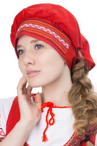 Hat, scarf in Russian folk style