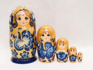 Matryoshka 5 places Golden Rooster - Souvenir