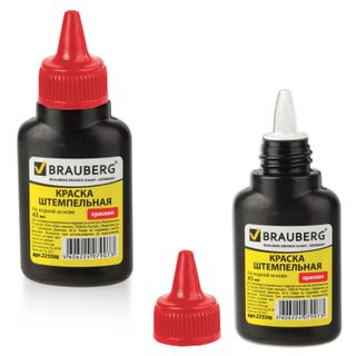 Stamping ink, BRAUBERG, red, 45 ml, water based
