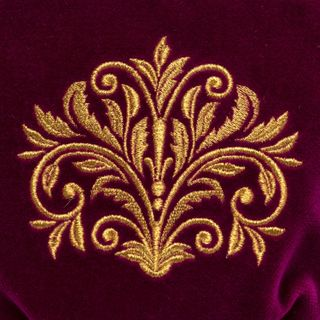 "Velvet cosmetic bag ""Dreams"" purple with gold embroidery"