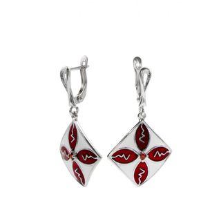 """Earrings 30211 """"Carré Et Croix"""""""