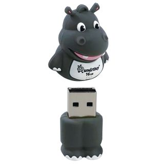 "SMARTBUY / Souvenir flash drive 16 GB, Wild ""Hippopotamus"", USB 2.0"
