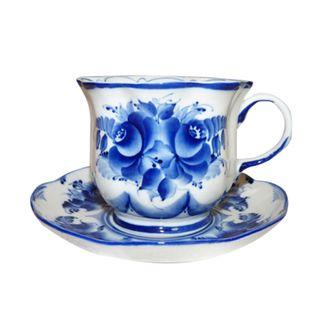 A couple of tea Smile 2nd grade, Gzhel Porcelain factory