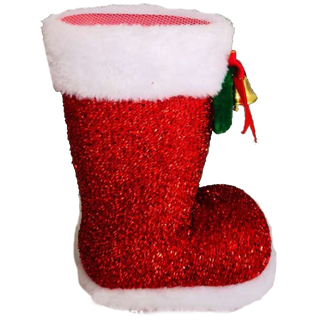 New Year's gift Shiny red boot + set of sweets 450g.