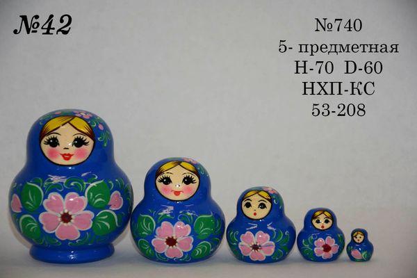 Vyatka souvenir / Matryoshka 5-piece number 740