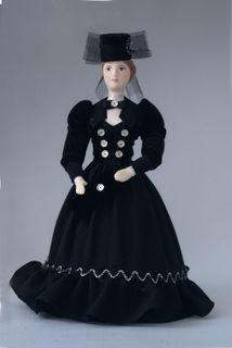 Doll gift porcelain. Anna Karenina.