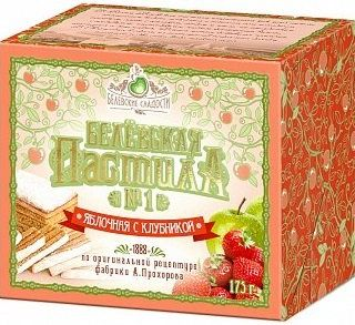 Belevsky pastille with apple and strawberry, 175 g