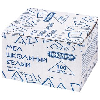 Chalk white PYTHAGORAS, a set of 100 pieces, square