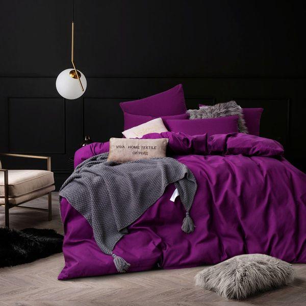 Citrade / Bedding set Solid Satin CS027, Euro 4 pillowcases