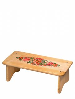 "Khokhloma painting / Wooden bench ""Sitting"" 250x570x250 mm"